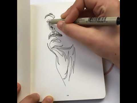 Continuous Line Drawing Face : Face and neck drawn in one continuous line youtube