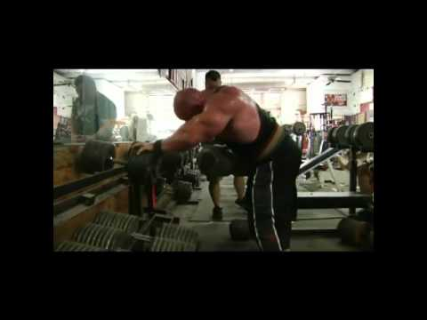 Branch Warren, 250 Pound One Arm Dumbbell Rows for 30 Seconds Straight