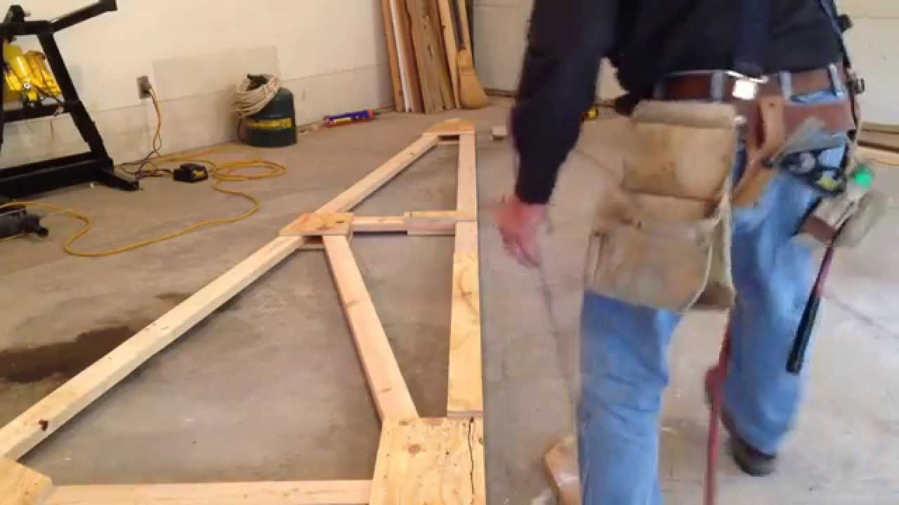 Build your own wood trusses - YouTube