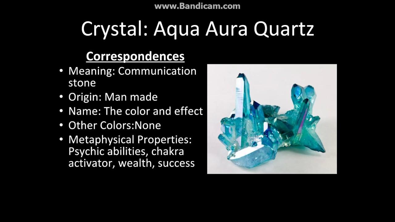 Crystal Series  Aqua Aura Quartz - YouTube 234dc27d9d