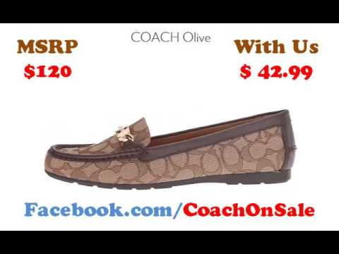 coach loafers womens