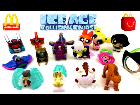 2016 Mcdonalds Next Happy Meal Toys Ice Age 5 Powerpuff Girls