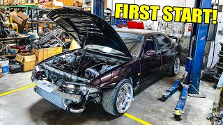 homepage tile video photo for BIG TURBO R33 FIRST START & REVS!!