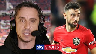 Gary Neville's honest assessment of Man United's new signings Bruno Fernandes & Odion Ighalo