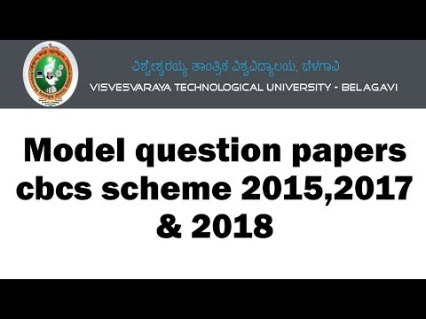 vtu all subject model question paper download CBCS 2015,2017,2018 scheme |