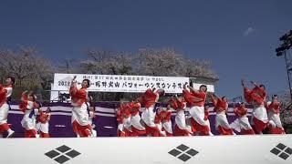 信玄公祭りにて『つる姫』さんの演舞を。