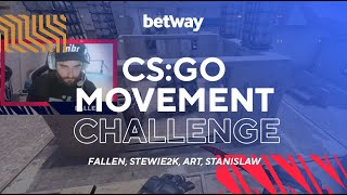 Stewie DOES NOT want to lose to FalleN | CS Movement Challenge