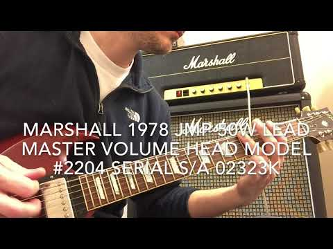 Marshall 1978 JMP 50w Lead Master Volume Head Model #2204 Serial SA02323K