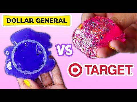 TARGET SLIME VS DOLLAR GENERAL SLIME! WHICH IS WORTH IT?