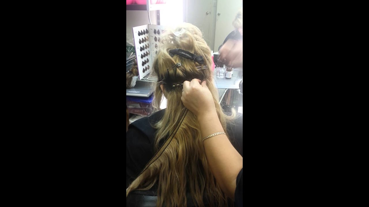 Blond Braid Less Sewn In Hair Extensions At Bonitta Hair Youtube