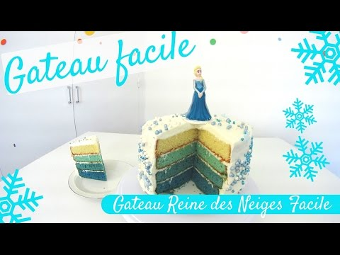 faire un gateau reine des neiges facile frozen ombre cake gateau facile youtube. Black Bedroom Furniture Sets. Home Design Ideas