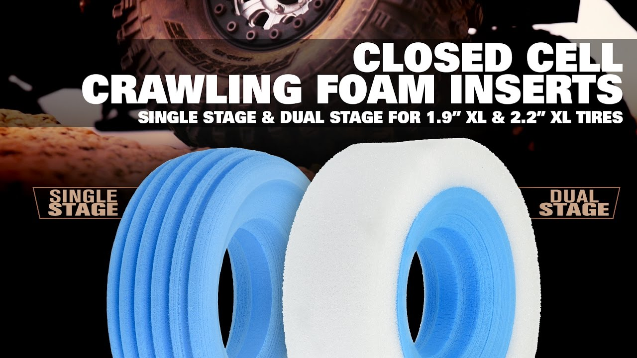 Pro-Line 1.9 XL Dual Stage Closed Cell Rock Crawler Foam Tire Inserts 6174-00