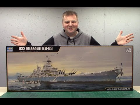 1/200 scale Missouri by Trumpeter Build Video 1