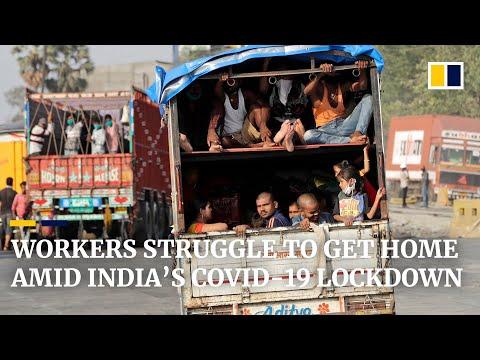 Coronavirus: India's migrant workers desperate to return home after lockdown