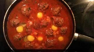 One Minute Moroccan Meatball Tajine