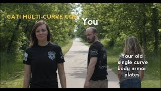 """Curves Matter"" CATI body armor CQB meme Multi-Curve vs. Single Curve"