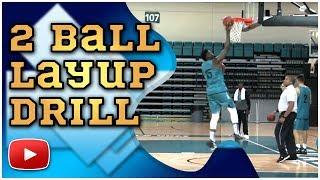 Basketball Skills and Drills - 2 Ball Layup Drill - Coach Cliff Ellis