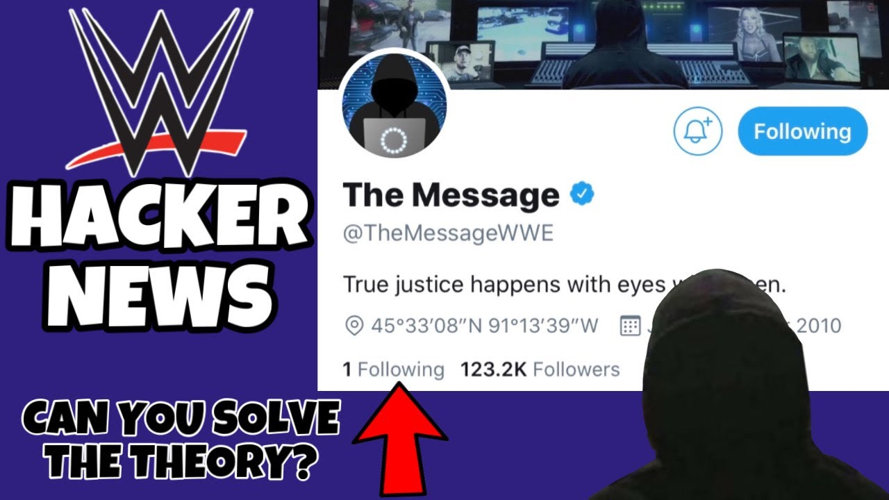 WWE HACKER NEWS! POSSIBLE NEW HACKER MESSAGE! CAN YOU SOLVE THIS INSANE WWE THEORY?