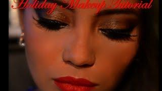 Glitzy Holiday Makeup Tutorial!! Merry Christmas!! Thumbnail