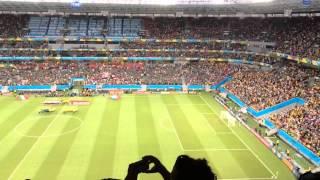 Mexicanos hacen que el Himno Nacional retumbe en todo Brasil
