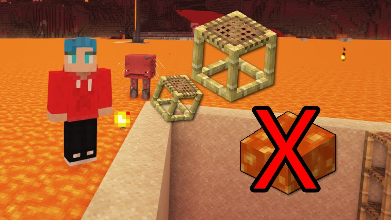 ABSOLUTE Fastest Way to Clear Lava (No Redstone) 1.16+ Minecraft Java *Bonus Tip at end!