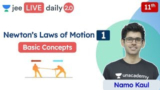 JEE: Newton's Laws of Motion L1 | Basic Concepts | Class 11 | Unacademy JEE | Physics | Namo Kaul