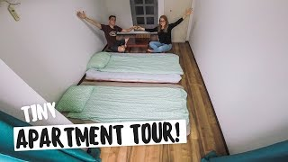 Tour of Our TINY JAPANESE APARTMENT Kuromon Market Tour Osaka Japan