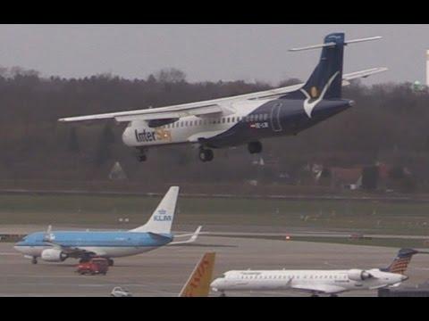 "ᴴᴰ ✈ CROSSWIND Approach ATR-72 Intersky @ Hamburg - Storm ""Niklas"""