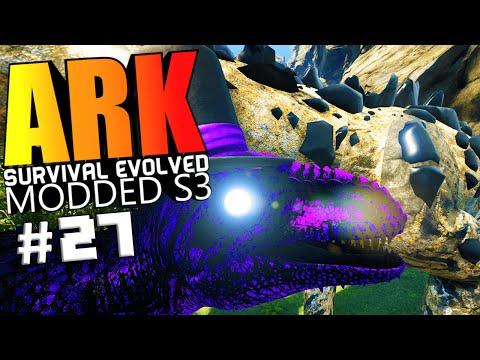ARK Survival Evolved - EARTH BOSS FIGHT, EARTH BOSS VS GIGA WARDEN Modded #27 (ARK Mods Gameplay)