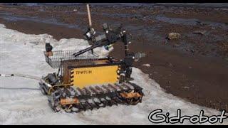 Поиски в реке с помощью подводного дрона