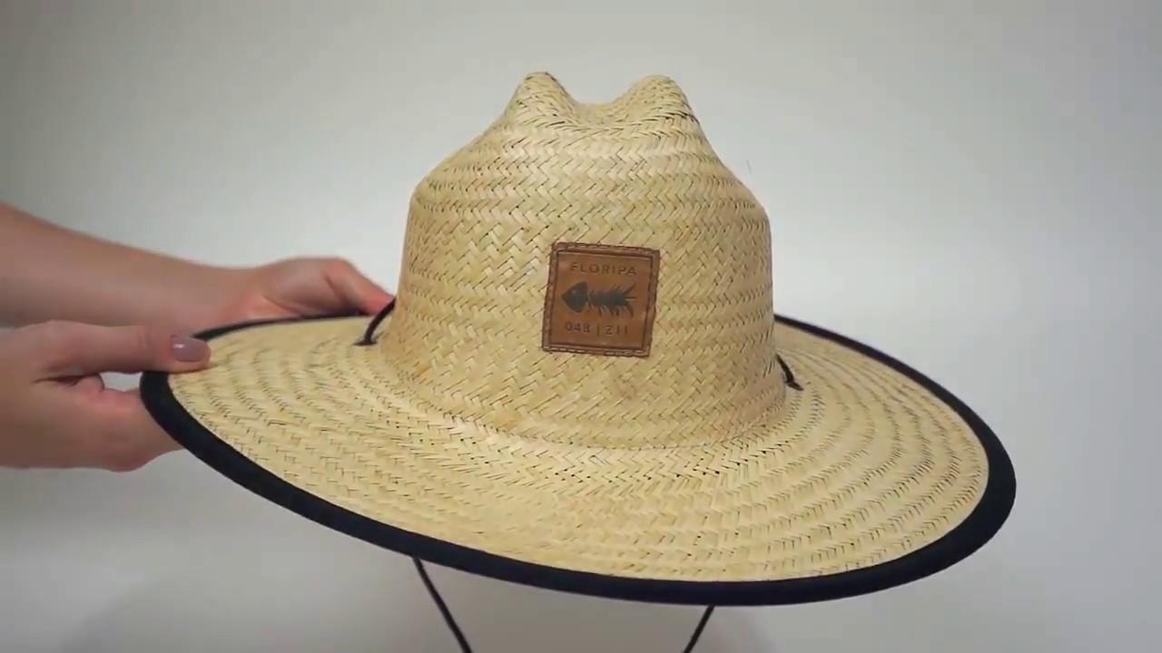 Chapéu de Palha com Forro Califórnia Clothis - YouTube bf0430b137f