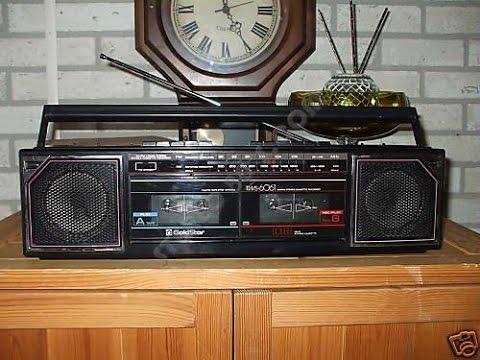 1980s Goldstar TWS-6061 double cassette boombox