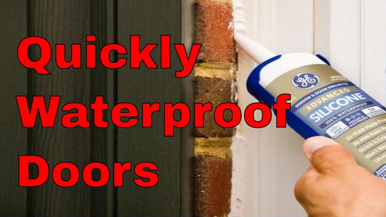 Waterproofing How To Weather Seal Door Threshold Water Leak Youtube