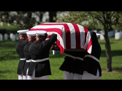 Marine Corps Body Bearers Lay Repatriated WWII Marine Pfc. Harry Morrissey to Rest at Arlington