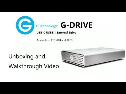 The G-Tech G-DRIVE USB-C USB3.1 External Drive Unboxing Video 0G05667