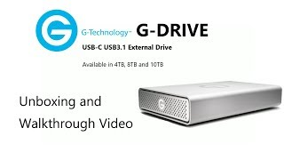 The G-Tech G-DRIVE USB-C USB3.1 External Drive Unboxing Video 0G05667