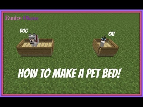 Minecraft how to make a bed of cat or dog decor youtube minecraft how to make a bed of cat or dog decor ccuart Gallery
