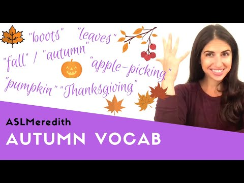 Learn ASL: Fall / Autumn Beginner Vocabulary in American Sign Language