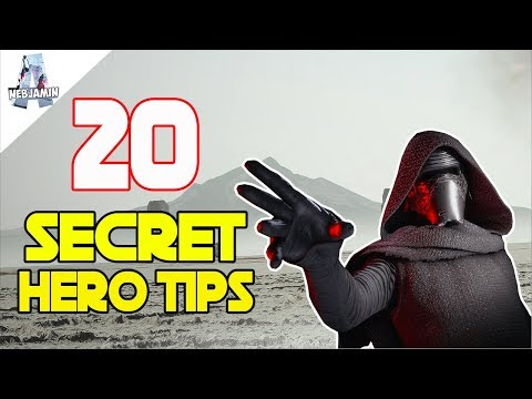 20 New Secret Hero Tips to Improve Your Game! - Star Wars Battlefront 2 The Last Jedi Season