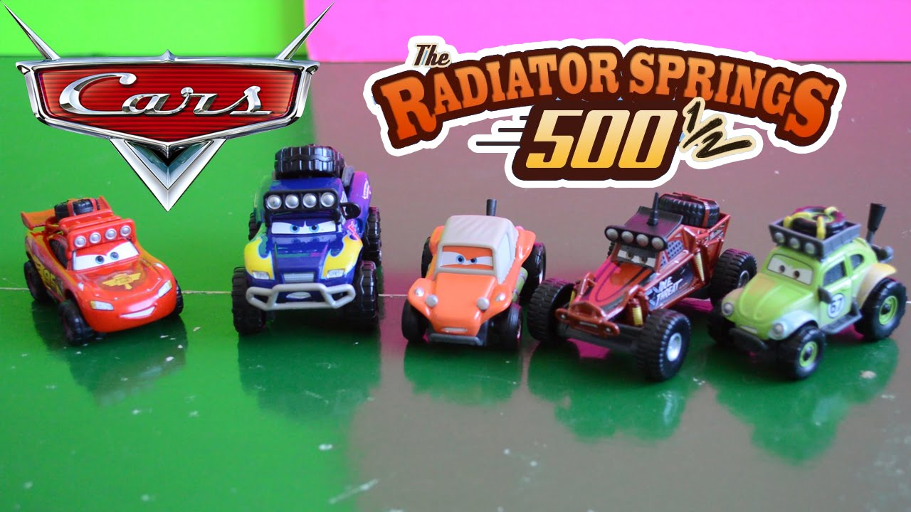 Cars 1 And 2 Toys : Lightning mcqueen toys radiator springs off road