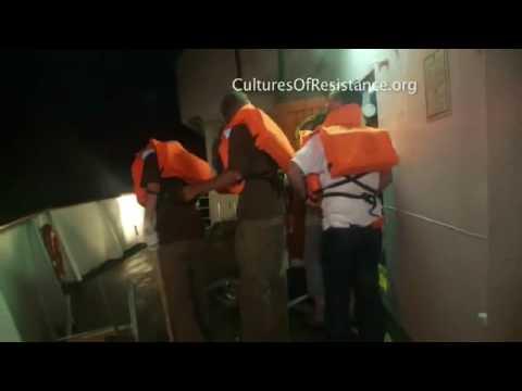 GAZA flotilla raid real video,,EVIL ZIONIST ISRAEL#1/2