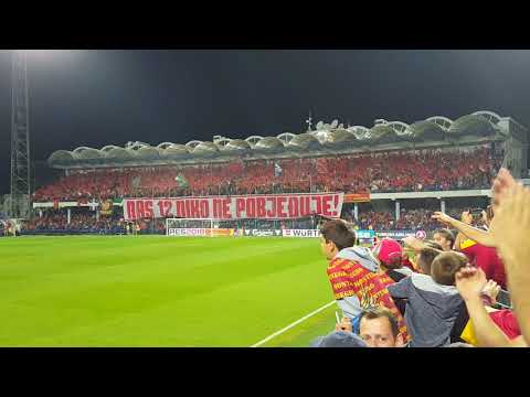 Crna Gora - Danska 0:1 koreografija na sjeveru