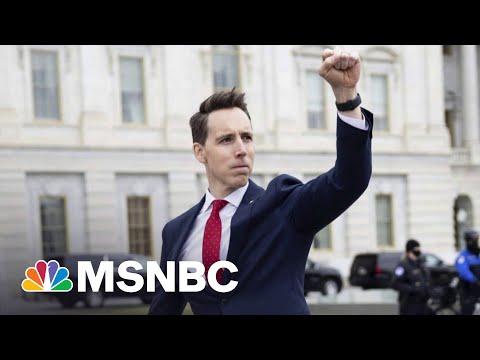 Josh Hawley Defends Pre-Capitol Riot Raised Fist Moment | The 11th Hour | MSNBC