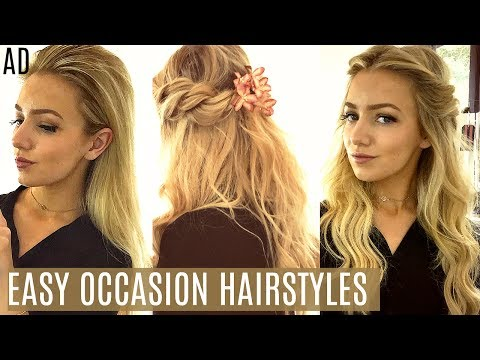EASY OCCASION HAIRSTYLES / Prom, Wedding, Summer Events / AD