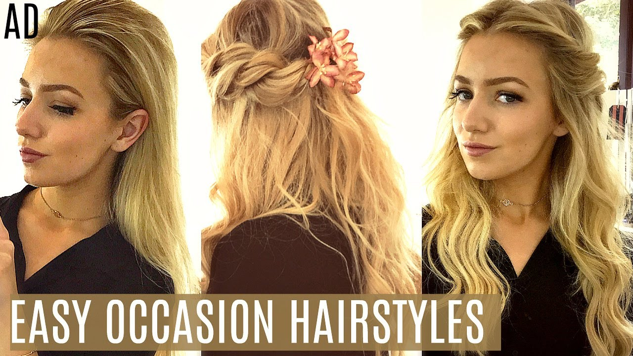 Easy Occasion Hairstyles Prom Wedding Summer Events Ad