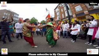 Maharashtra Day  London 2017 Hounslow lezim Dance dhol tasha p…