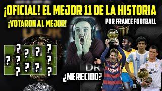 EL MEJOR ONCE DE LA HISTORIA POR FRANCE FOOTBALL MESSI CRISTIANO RONALDO MARADONA