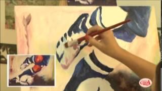 Aprenda a fazer um pintura em tela com a técnica do espatulado