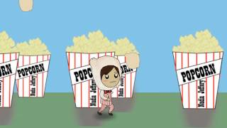 Motion Graphic Popcorn-man