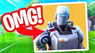 SPELEN MET DE NIEUWE GRATIS A.I.M. HUNTING PARTY SKIN!! Fortnite Battle Royale
